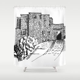 shadow at the top of the hill Shower Curtain