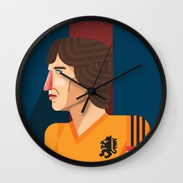 Johan Cruyff, The Godfather of Modern Football Wall Clock
