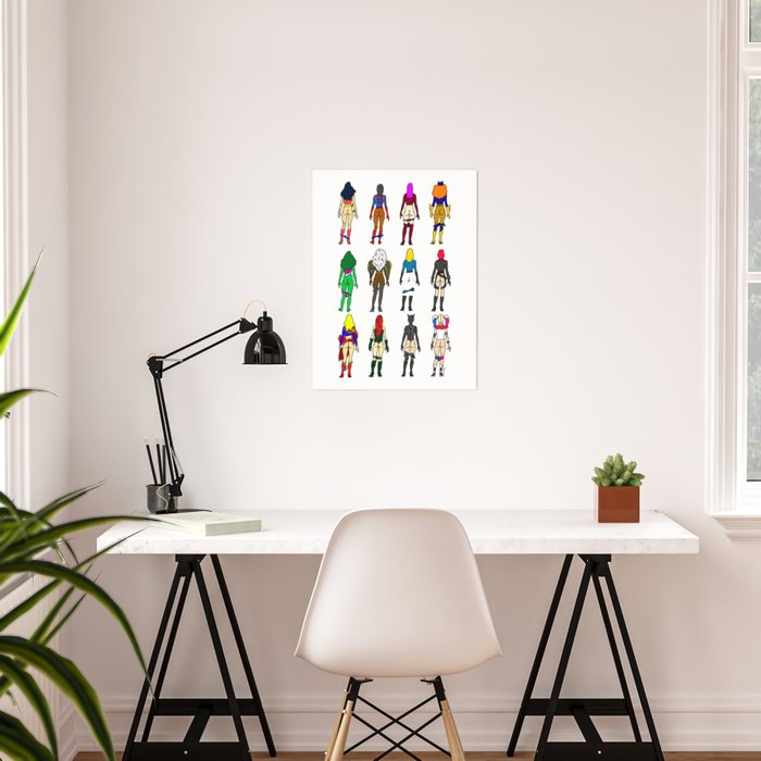 Superhero Butts - Girls - Row Version - Superheroine Poster