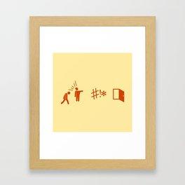 Heiroglyphs 2015 - GTFO Framed Art Print