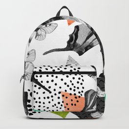Abstract natural geometric seamless pattern Backpack