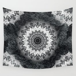 MONOCHROME BOHOCHIC MANDALA Wall Tapestry