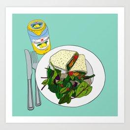 Healthy Falafel Wrap Lunch Art Print