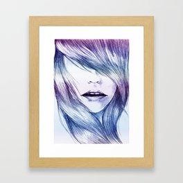 Winter Blur Framed Art Print