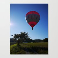 ballon Canvas Prints featuring Ballon landing by Rainer Steinke