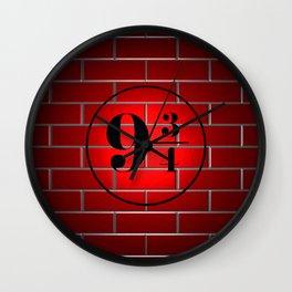 peron brick wall Wall Clock