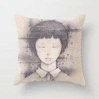 cosmos Throw Pillows featuring cosmos by Shiro