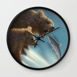 Brown Bears - Fishing Lesson Wall Clock
