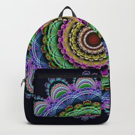 Fantasy crochet flower Backpack