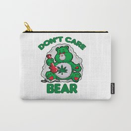 DO NOT CARE BEAR SMOKING WEED Bong Hemp Leaf 420 Carry-All Pouch