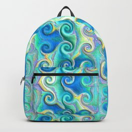 Seamless Wave Spiral Abstract Pattern Backpack
