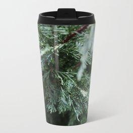 Winter Pine Metal Travel Mug
