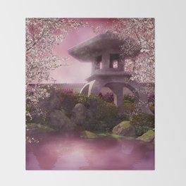 Oriental Garden Throw Blanket