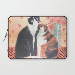 Cats with roses Laptop Sleeve