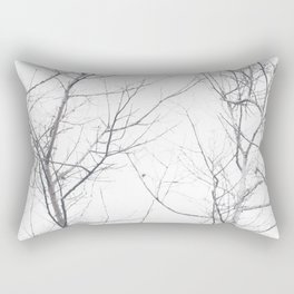 Faded Winter... Tree Branches Rectangular Pillow