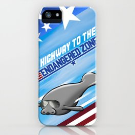 Highway To The Endangered Zone iPhone Case