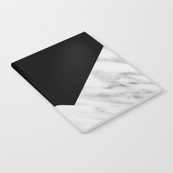 Black Marble Collage Notebook