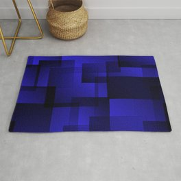 Pattern of sea squares with shadow and volume. Rug