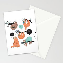 Keep calm and be Sloth Stationery Cards