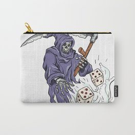 Grim Reaper Throwing the Dice Drawing Color Carry-All Pouch