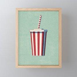 FAST FOOD / Softdrink Framed Mini Art Print