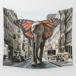 Lost Butterphant in NYC Wall Tapestry