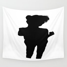 Shadow Drinking Tea Wall Tapestry