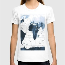 ALLOVER THE WORLD-Woods fog map T-shirt