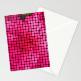 flowing flower pink Stationery Cards