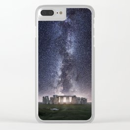 Stonehenge - Milky Way Clear iPhone Case