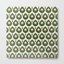 Drops Retro Confete Metal Print
