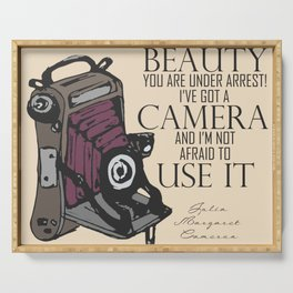 Say Cheese! collection: vintage folding camera Serving Tray