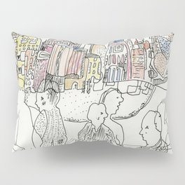 NYC buildings Pillow Sham