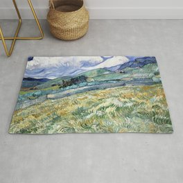 Landscape from Saint-Remy by Vincent van Gogh Rug