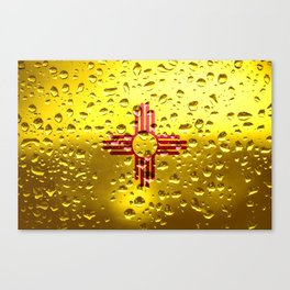 Flag of New Mexico - Raindrops Canvas Print
