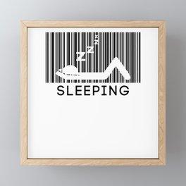 Sleeping Barcode Sleep In Late Riser Framed Mini Art Print