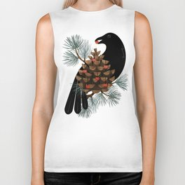 Bird & Berries Biker Tank