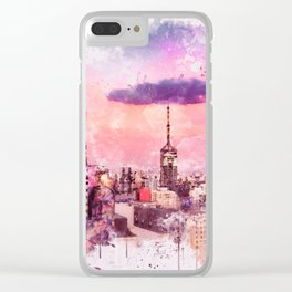 Sao Paulo - WaterColor 003C Clear iPhone Case