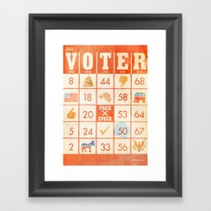 The Bingo Vote Framed Art Print