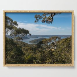 View of Hawkesbury River from Muogamarra Reserve, Sydney Serving Tray