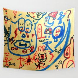 Mushroom Man on Boost Wall Tapestry