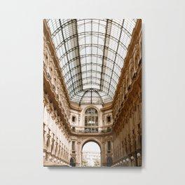 Galleria Vittorio Emanuel II in Milan, Italy   Fine Art Travel Photography   Europe Metal Print