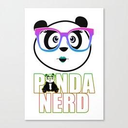 Panda Nerd Girl - Rainbow Canvas Print