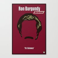 anchorman Canvas Prints featuring Ron Burgundy: Anchorman by BC Arts