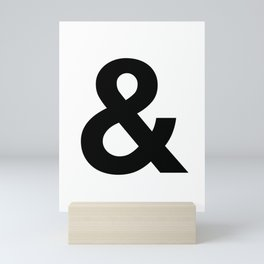 Ampersand Black and White Helvetica Typography Design Poster Home Decor Wall Art Scandinavian Decor Mini Art Print