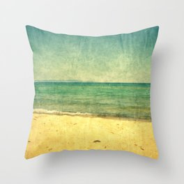 Seascape Vertical Abstract Throw Pillow