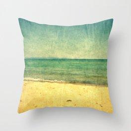 Seascape Vertical Abstract Throw Pillow