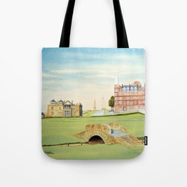 St Andrews Golf Course 18th Hole Tote Bag