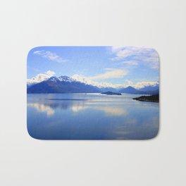 New Zealand Lake Digitized to Oil Effect Bath Mat