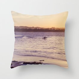 Byron Bay morning Surf Throw Pillow